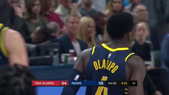 Oladipo Gets the Bucket and Foul