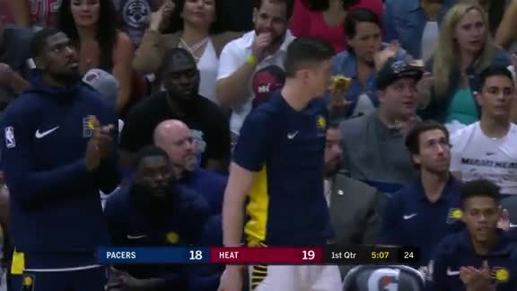 Oladipo Finds Collison in the Corner