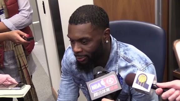 Postgame: Pacers Locker Room - Nov. 24, 2017