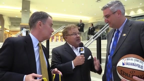 Gov. Holcomb & Mayor Hogsett on All-Star Game Returning to Indy