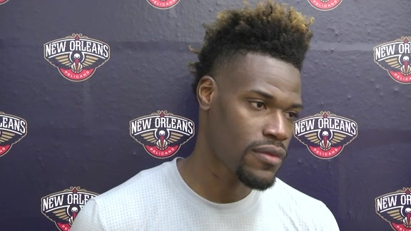 Jeff Adrien talks about Pelicans training camp