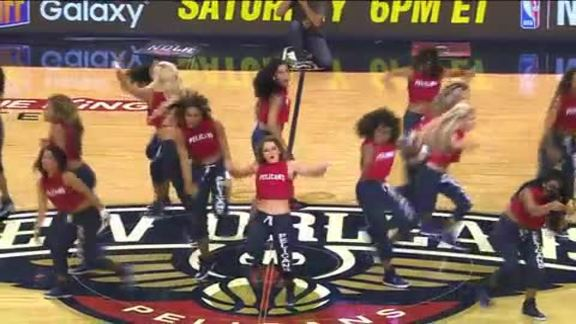 Pelicans Dance Team performance from Spurs game