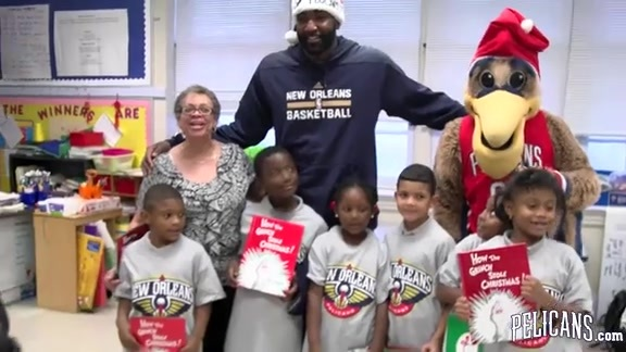 Season of Giving: STAIR reading event with Kendrick Perkins 12-10-15