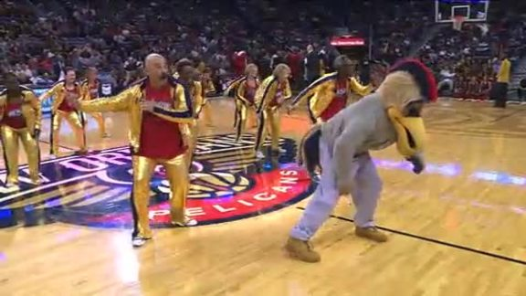 Pelicans Senior Dance Team: 12-11-15 vs Wizards