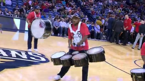 Pelicans Drum Line: 12-23-15 vs Trail Blazers