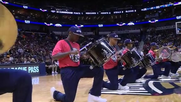 Pelicans Drum Line: 2-4-16 vs. Lakers
