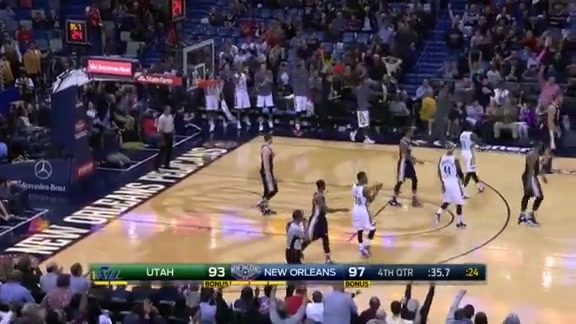 Highlights from the Pelicans' 100-96 victory over the Utah Jazz