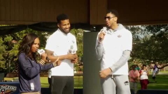 Pelicans Day at the Zoo with Alonzo Gee & Anthony Davis