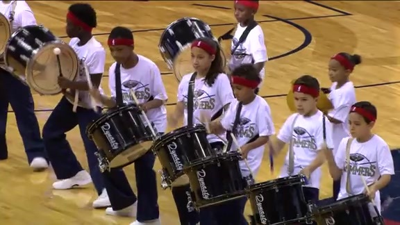 Pelicans Mini Drummers: 3-5-16 vs. Jazz