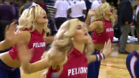 Pelicans Dance Team: 3-7-16 vs Kings #2