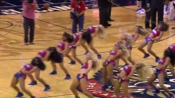 Pelicans Dance Team: 3-26-16 vs Raptors