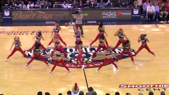 Pelicans Dance Team: 4-9-15 vs Suns #2