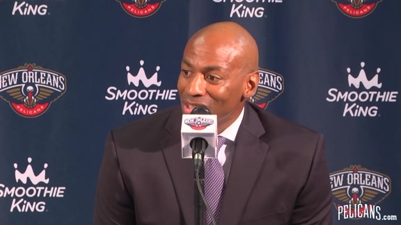 Pelicans Media Day 2017: Dell Demps