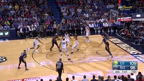 DeMarcus Cousins drives and lobs to AD for the jam
