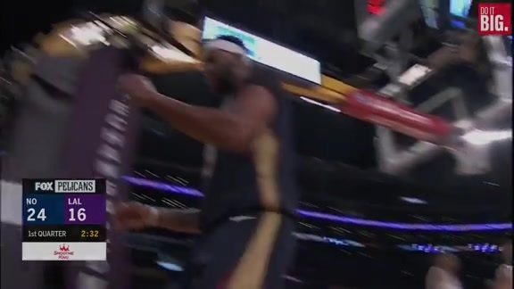 Anthony Davis with the And-1