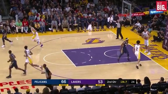 1st Half Highlights - Pelicans vs Lakers 10/22/17