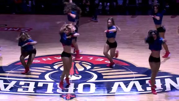 Pelicans Dance Team Performance - 12/6/17