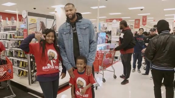 Watch: DeMarcus Cousins hosts Santa Cuz Shopping Spree