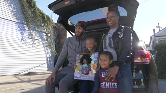 Anthony Davis gives All-Star MVP car to local family