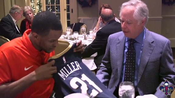 Darius Miller joins 3-Point Club of New Orleans