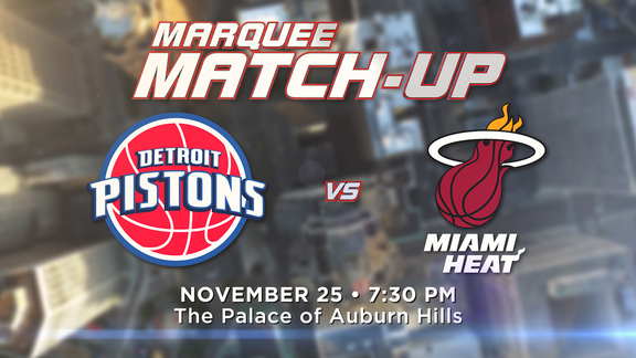 Marquee Matchup: Pistons vs. Heat