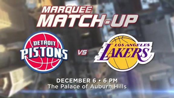 Pistons Vs Lakers: Marquee Matchup: Pistons Vs. Lakers