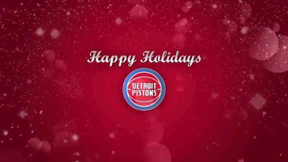 Detroit Pistons Holiday Card 2017
