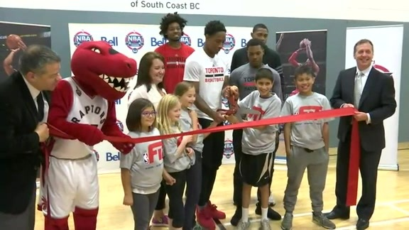 Refurbished court unveiling at Kimount Boys and Girls Club