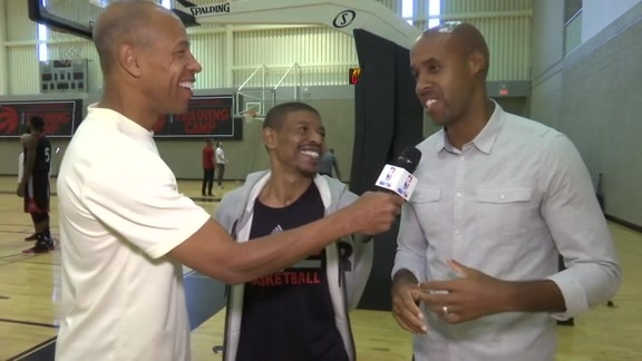 Raptors Training Camp: Muggsy Bogues - October 3, 2015