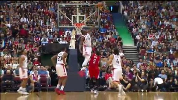 Raptors Highlights: Biyombo's Block - October 4, 2015