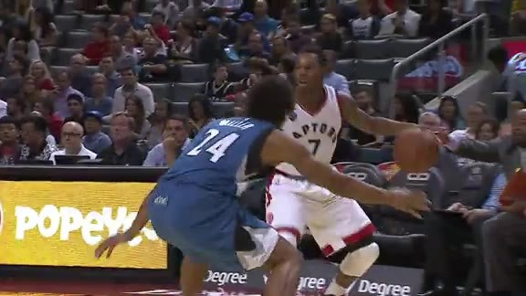 Raptors Highlights: Lowry's 3rd Quarter - October 12, 2015