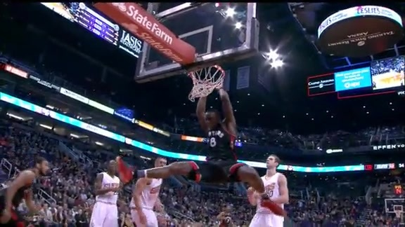 Raptors Highlights: Joseph Finds Biyombo - February 2, 2016