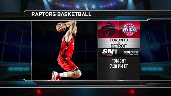 Raptors Game Preview: Toronto at Detroit - February 8, 2016