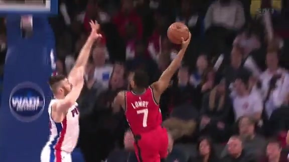 Raptors Highlights: Lowry's Hook Shot - February 8, 2016