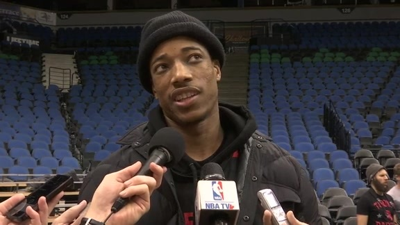 Raptors Shootaround: DeMar DeRozan - February 10, 2016
