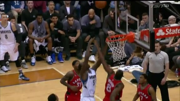 Raptors Highlights: Biyombo Protects The Rim - February 10, 2016