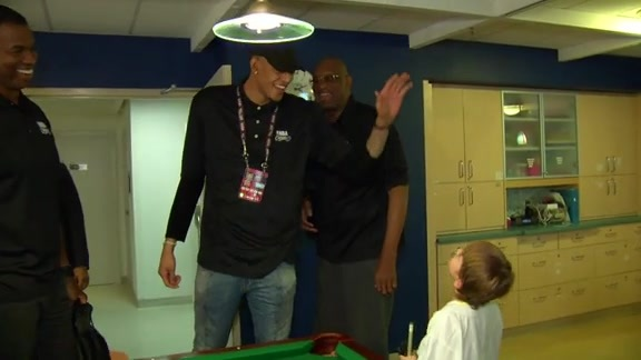 NBA Family Visits SickKids Hospital - February 11, 2016