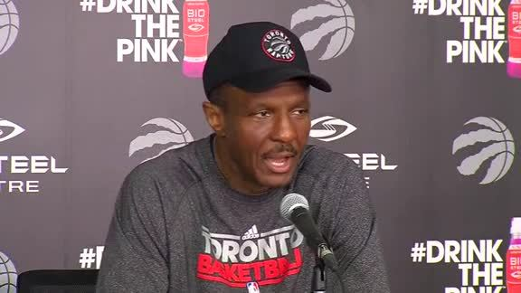 Raptors Practice: Dwane Casey - April 25, 2016