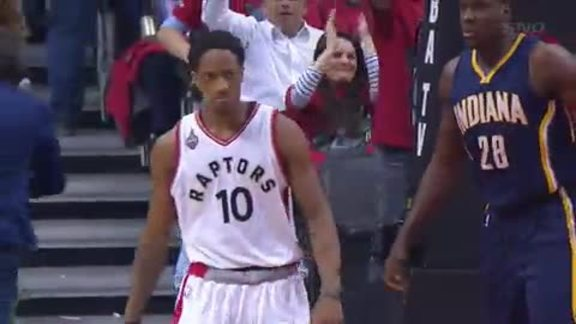 Raptors Highlights: DeRozan Drives And Slams - April 26, 2016