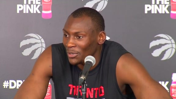 Raptors Practice: Bismack Biyombo - April 27, 2016