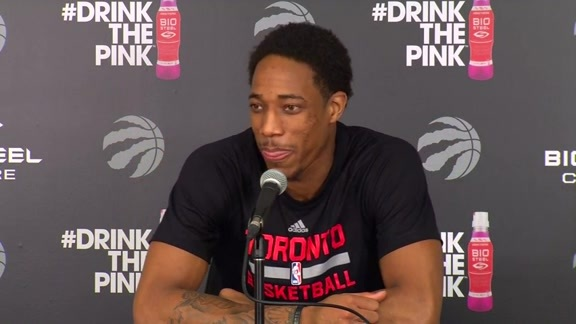 Raptors Practice: DeMar DeRozan - April 27, 2016