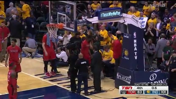 Game Highlights: Raptors vs. Pacers Game 6 - April 29, 2016