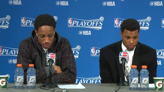 Raptors Post-Game: Kyle Lowry & DeMar DeRozan - April 29, 2016