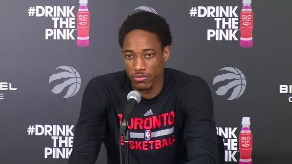 Raptors Practice: DeMar DeRozan - April 30, 2016