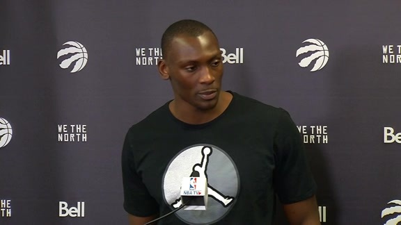 Raptors Shootaround: Bismack Biyombo - May 27, 2016