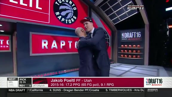 Raptors Select Jakob Poeltl 9th Overall - June 23, 2016