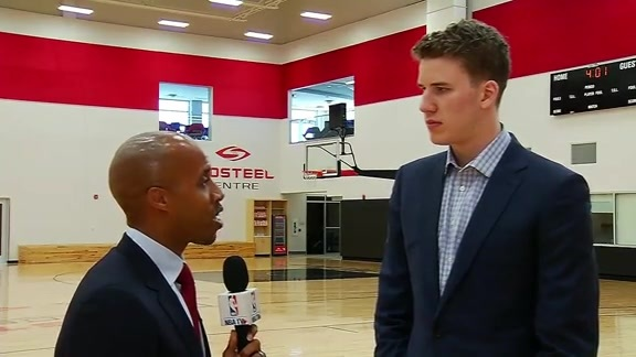 Jakob Poeltl with NBA TV Canada - June 24, 2016