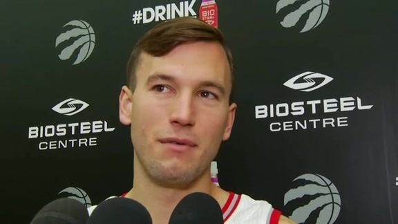 Raptors Media Day: Brady Heslip - September 26, 2016