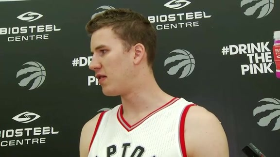 Raptors Media Day: Jakob Poeltl - September 26, 2016