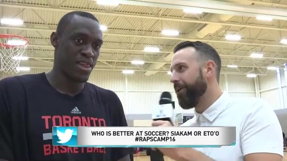 Raptors Training Camp: Pascal Siakam Answers Twitter Questions - September 30, 2016